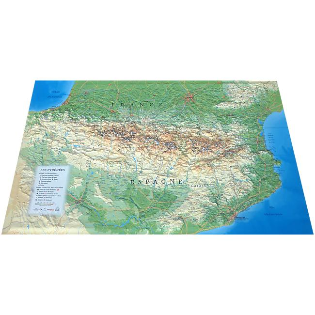 RELIEF PYRENEES 61X41
